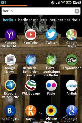 Firefox OS Adaptive Suche