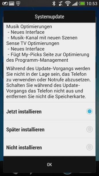 HTC One 4.3 Jelly Bean Update