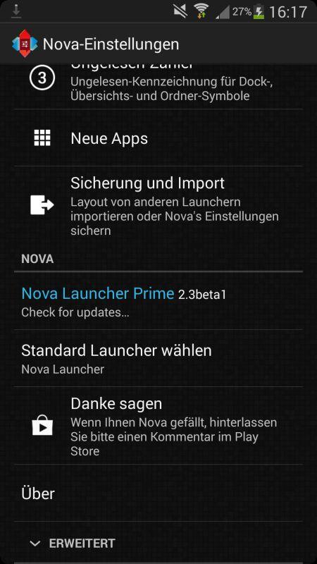 Nova Launcher 2.3 Beta