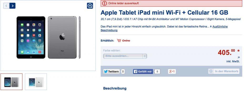 iPad mini bei LIDL