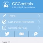 Cydia Tweak CCControls