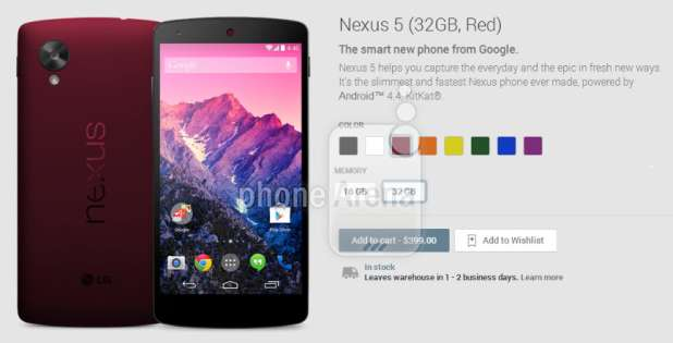 Nexus 5 Color