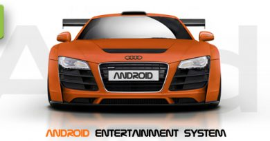 Audi mit Android Entertainment System