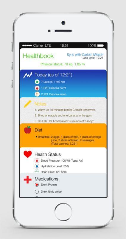 iOS 8 Healthbook