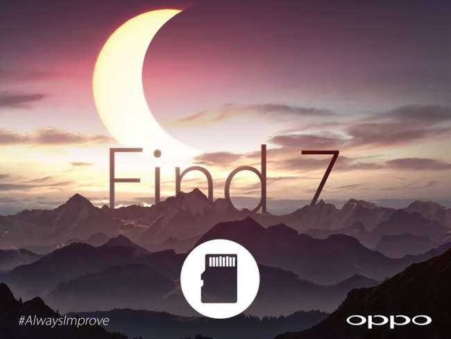 Oppo Find 7 MicroSD Teaser
