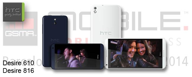 MWC 2014 HTC Desire 610 Desire 816