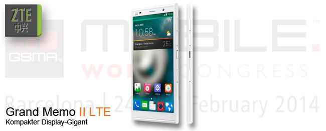 MWC 2014 ZTE Grand Memo II LTE