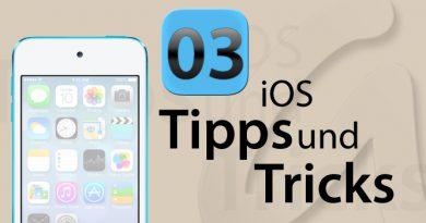 Screenshot / Bildschirmfoto unter iOS