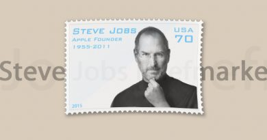 Steve Jobs Gedenk-Briefmarke
