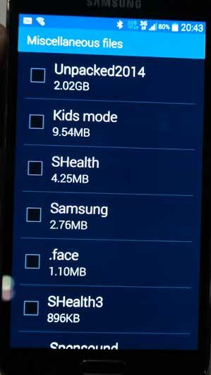 Samsung Galaxy S5 interner Speicher