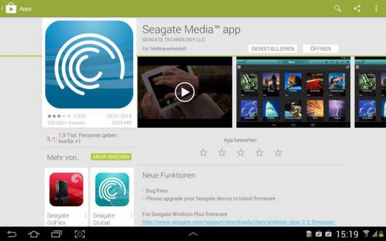Seagate Wireless Plus App
