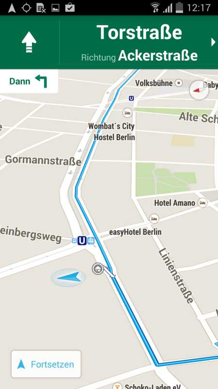 Google Maps im Auto