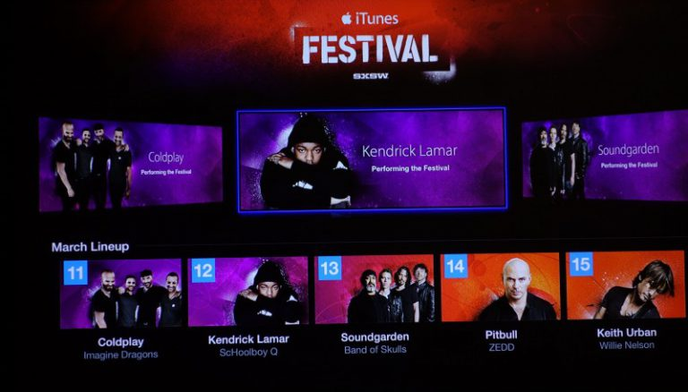 Apple TV Kanal für das iTunes Festival