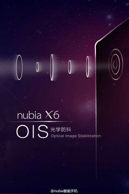 ZTE Nubia X6 Teaser