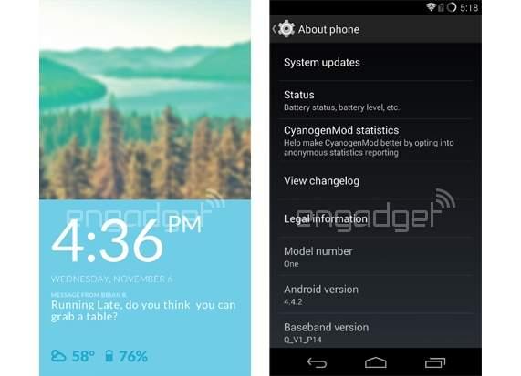 OnePlus One mit CyanogenMod 11S