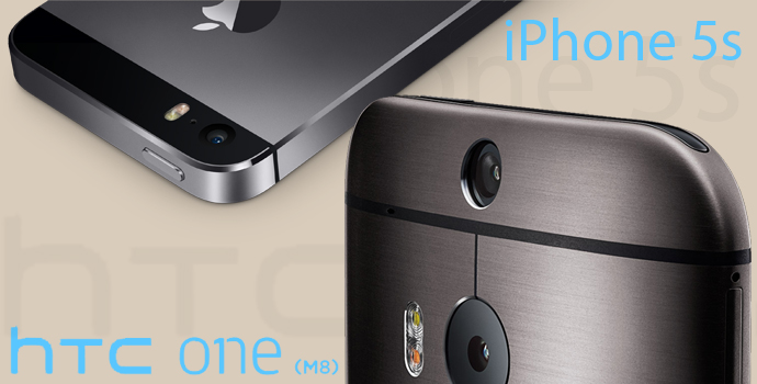 HTC One (M8) vs. iPhone 5s