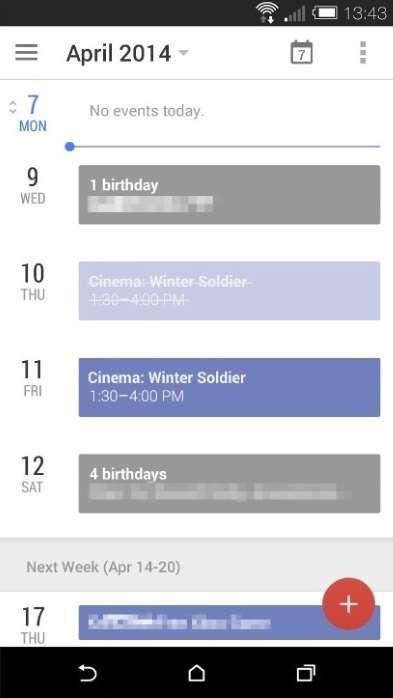 Google Kalender Leak