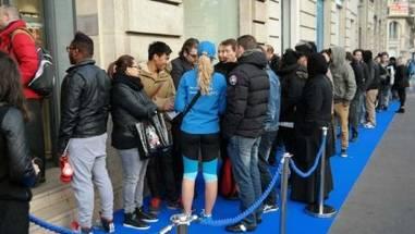 Warten auf das Samsung Galaxy S5 in Frankreich