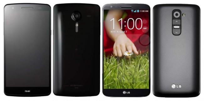 LG isai vs. LG G2