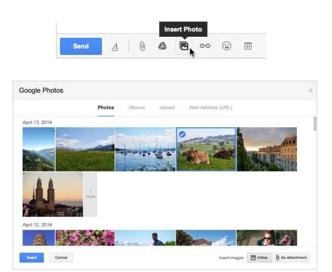 Gmail Foto Upload