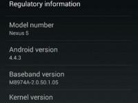 Android 4.4.3 KitKat Nexus 5
