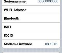 iPhone Seriennummer