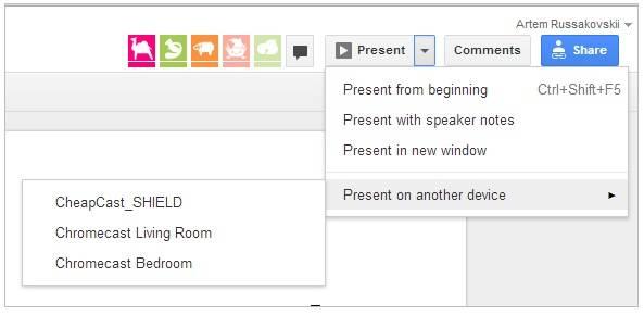 Googel Drive Präsentationen für den Chromecast