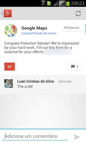 Google Maps Pokemon-Belohnung