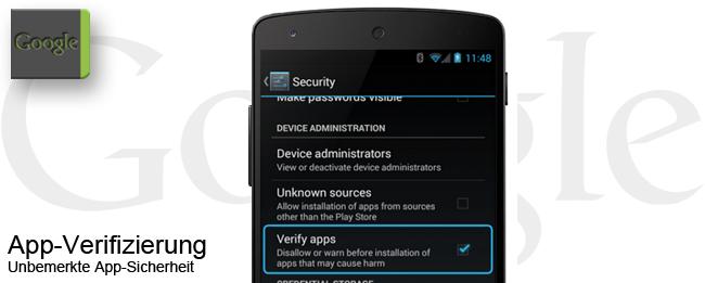 Android App-Verifizierung