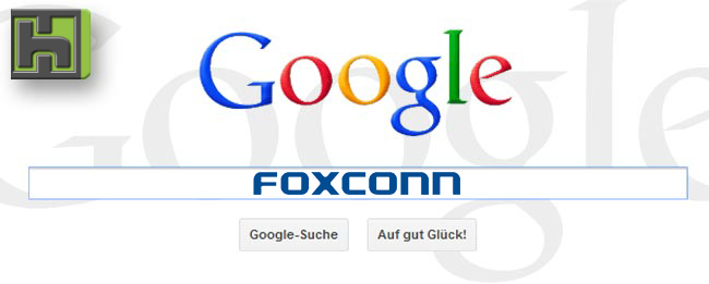 Google kauft bei Foxconn