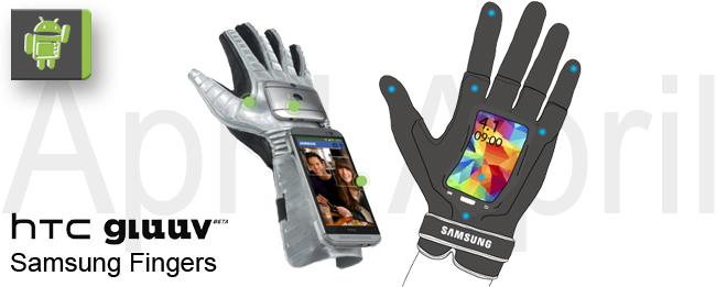 HTC Gluuv und Samsung Fingers