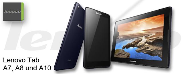 Lenovo Tab A7, A8 und A10