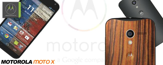 Motoroal Moto X mit Walnuss-Rückseite