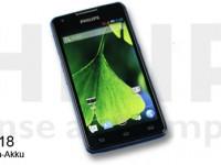 Philips Xenium W6618 Smartphone inklusive Riesenakku