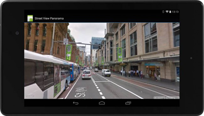 Google Maps API mit Street View der Google Play Service