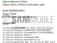 Galaxy S3 Fehlerbericht
