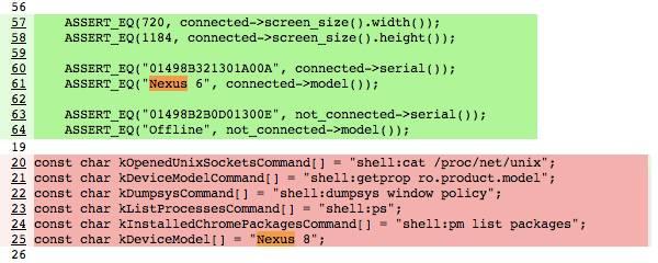Nexus 6 und Nexus 8 im Chromium-Quellcode