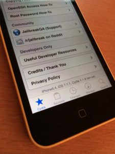 iOS 7.1.1 Jailbreak auf iPhone 5c