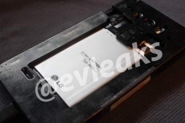 LG G3 mit enthüllter Rückseite