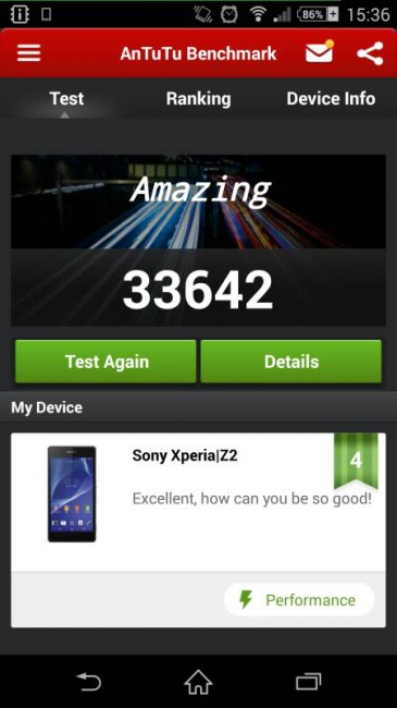 Sony Xperia Z2 Test