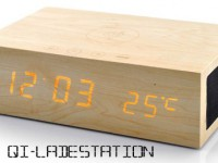 [Kurztest] Kabellose Qi-Ladestation inklusive Holzdesign Wecker