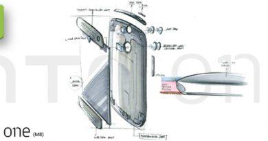 HTC One M8 Designentwurf