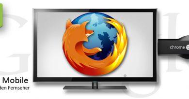 Firefox Mobile für Chromecast