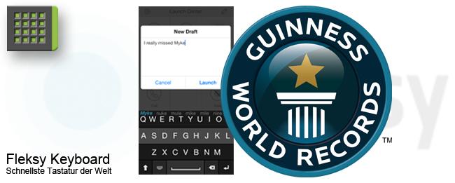 Fleksy Keyboard mit Weltrekord