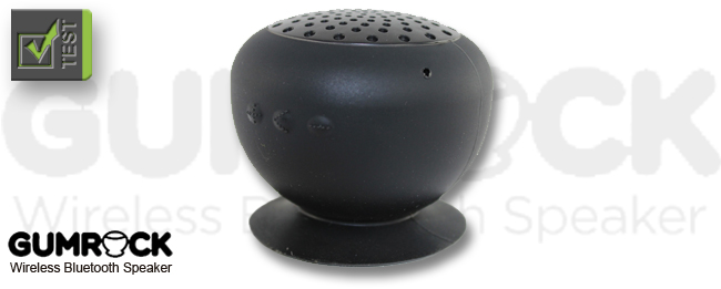 test gumrock bluetooth speaker lautsprecher mit saugnapf. Black Bedroom Furniture Sets. Home Design Ideas