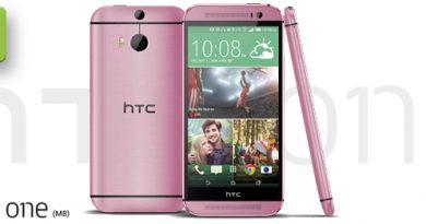 HTC One M8 in Pink