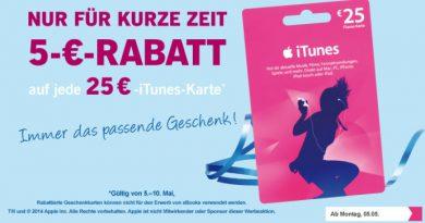 iTunes Geschenkkarten Rabatt