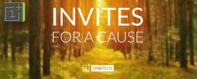 OnePlus Invites for a cause
