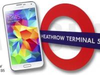 Terminal Samsung Galaxy S5: London Heathrow als Werbesäule