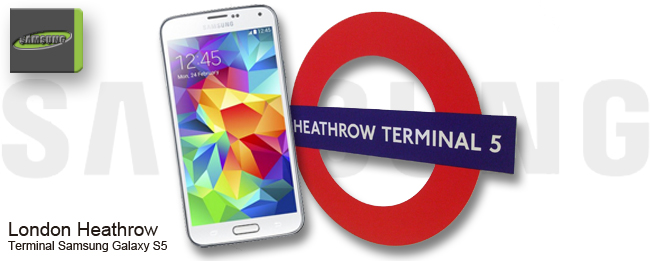 London Heathrow Terminal Samsung Galaxy S5